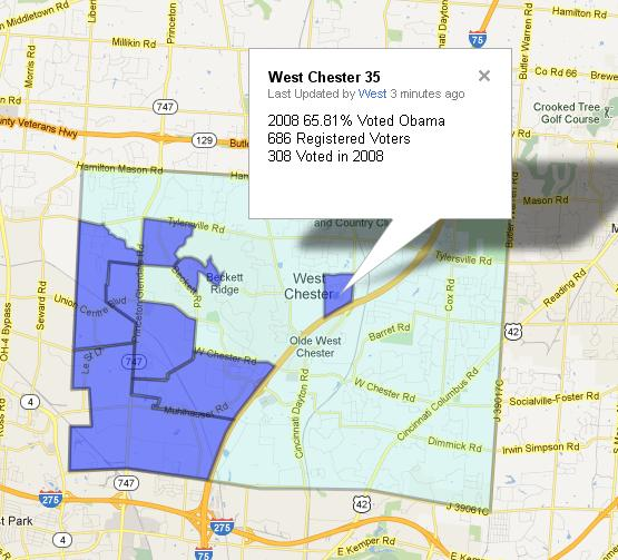 West Chester Precinct Map