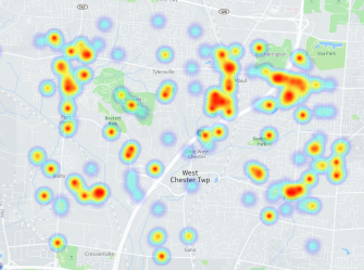 1 Year Of Drug Arrests In West Chester Visualized